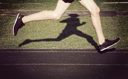 Odludny biegacz Fotografia Royalty Free