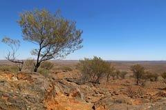 Odludzia Australia blisko Łamający wzgórze Fotografia Royalty Free
