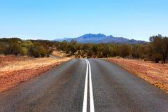 Odludzie droga, terytorium północny, Australia zdjęcia stock