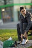 odmienianie buty obraz stock