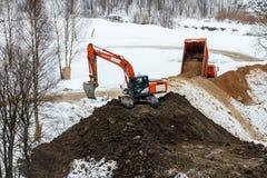 Odmienianie krajobraz w zimie Przygotowania norma zdjęcie royalty free