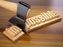 Odmienianie niemożliwy w ewentualnego na drewnianej desce z a słowo Zdjęcie Royalty Free