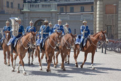 Odmienianie strażnik blisko pałac królewskiego. Szwecja. Sztokholm Obrazy Royalty Free