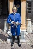 Odmienianie strażnik blisko pałac królewskiego. Szwecja. Sztokholm Fotografia Stock