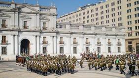 Odmienianie strażnik, Santiago, Chile obrazy stock