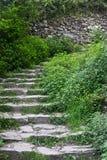 Odmierzony ślad w Cinque Terre fotografia stock