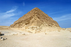Odmierzony ostrosłup przy Saqqara - Egipt, Afryka Zdjęcia Royalty Free