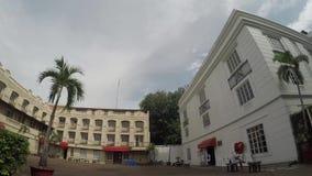Odnawiący administracyjny budynek wśrodku Intramuros izolującego miasta zdjęcie wideo