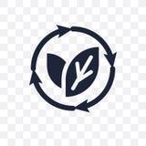 Odnawialna przejrzysta ikona Odnawialny symbolu projekt od ekologii ilustracja wektor
