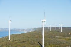 Odnawialna Wiatrowego gospodarstwa rolnego energia Australia Obrazy Stock