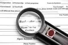 odniesienia do banku Obrazy Stock