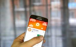 Odnoklassniki app på Samsung S7 Royaltyfri Foto