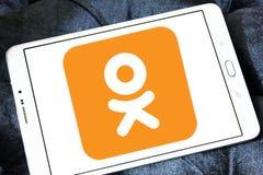 Odnoklassniki, OK RU, logo social de réseau Photo stock