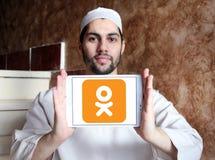 Odnoklassniki, OK RU, logo social de réseau Image stock
