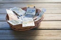 odnotować dwa odbicia euro Fotografia Royalty Free