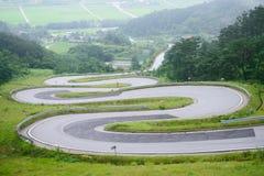 Odo-jae , winding road in Korea Stock Photography
