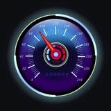 Odomètre de Digital et tachymètre analogue avec la flèche illustration stock