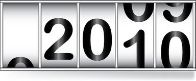 Odometar for new year. Odometer for new 2010 year Royalty Free Illustration