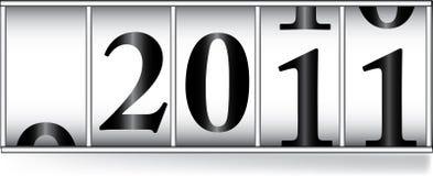 Odometar voor het jaar van 2011 Royalty-vrije Stock Foto