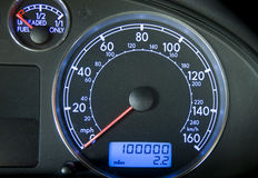 Odometer At 100,000 Royalty Free Stock Photo