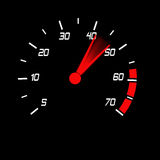 Odometer. With white digits and red blured pointer Royalty Free Stock Image