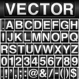Odometer Alphabet and Numbers vector illustration