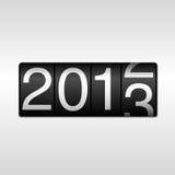 Odometer för nytt år 2013 stock illustrationer