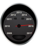 2016 odometer. Illustration of years odometer, 2016 year stock illustration