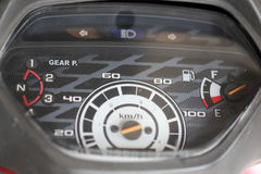 Odometer motorcycle. Old odometer motorcycle  in carcare Royalty Free Stock Photo