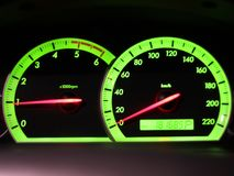 Odometer Speed in my car Royalty Free Stock Image