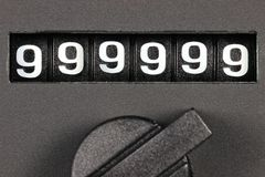 Odometer of used car Stock Images