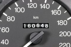 Odometer of used car royalty free stock photos