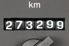 Odometer of used car Royalty Free Stock Images