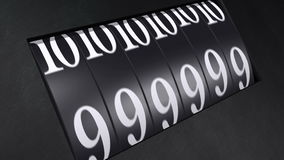 Odometeraftelprocedure van 10 tot 0 stock video