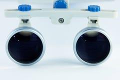 Odontologia binocular das lupas Aplicação do sistema ótico no treatme Imagens de Stock Royalty Free