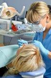 Odontologia, parada da cavidade do dente foto de stock