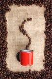Odore del caffè Fotografie Stock