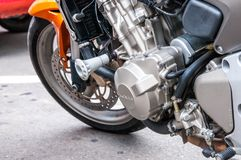 Honda Hornet engine close up shot. royalty free stock image