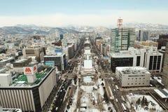 Odori parkerar (Sapporo) Royaltyfri Fotografi