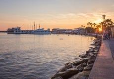Odos Poseidonos, Paphos, Кипр Стоковое фото RF
