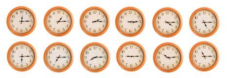 Ścienni zegary ustawiają -3/4 Obrazy Royalty Free