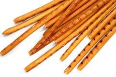 Odosobneni breadsticks na bielu Obrazy Stock