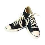 odosobneni buty bawją się biel Zdjęcie Royalty Free