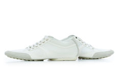 odosobneni buty zwierają biel Zdjęcie Stock