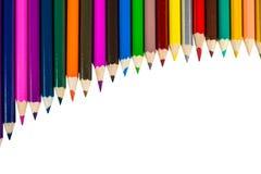 odosobneni colour ołówki obrazy stock