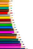 odosobneni colour ołówki zdjęcie royalty free