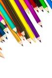 odosobneni colour ołówki fotografia stock