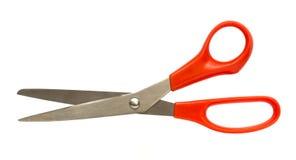 Odosobneni czerwoni nożyce zdjęcia stock