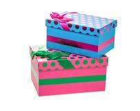 Odosobneni dekorujący pudełka Zdjęcia Stock