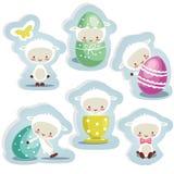 odosobneni Easter śliczni majchery Zdjęcie Stock